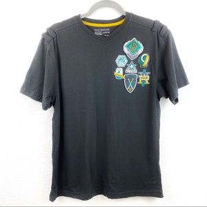Rocawear Black T-shirt with Emblems Size Large